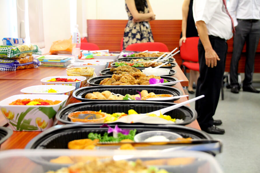 Lunch's ready @ 'O' Level Farewell Party 2017