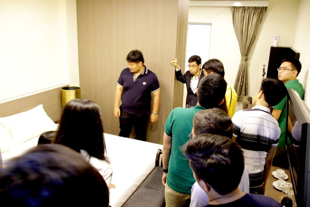 Students from university of Santo Thomas visiting TMC Accommodation Roon