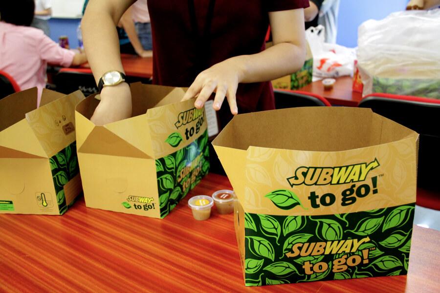 Subway Lunch - June 2017 Orientation Day @ TMC Academy