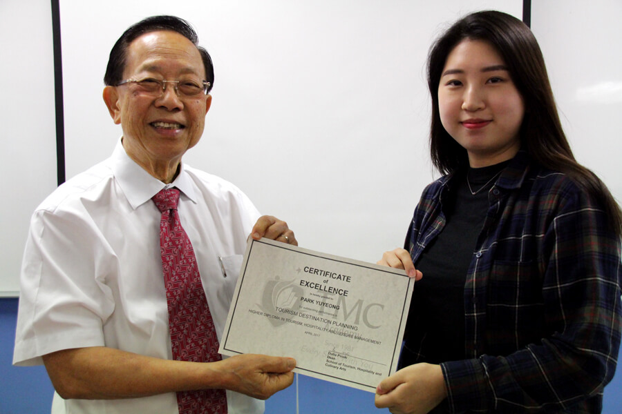 TMC Academy Park Yunyeong Higher Diploma in Tourism Hospitality and Leisure Management