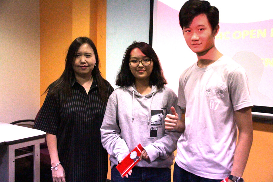 TMC Academy Student Club Lucky Winner of Open House Mini Contest and Foosball Tournament