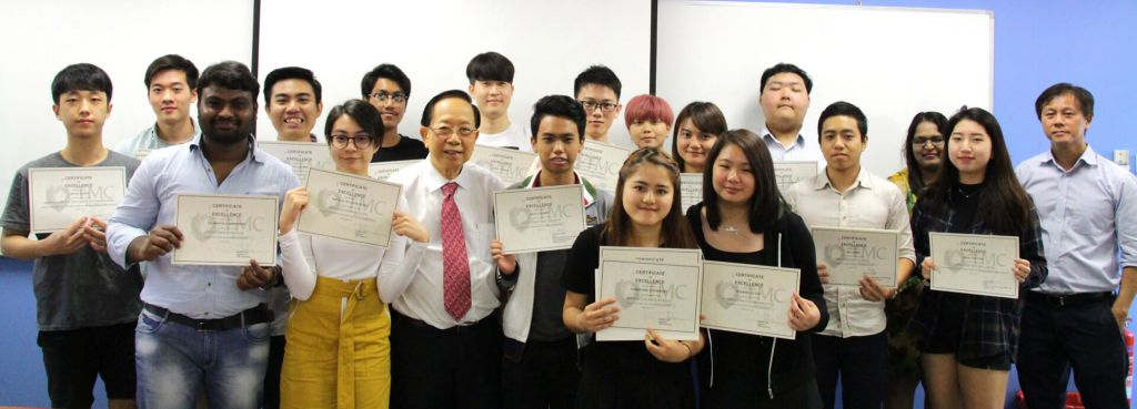 TMC Top Achieving Students with Dr Chin