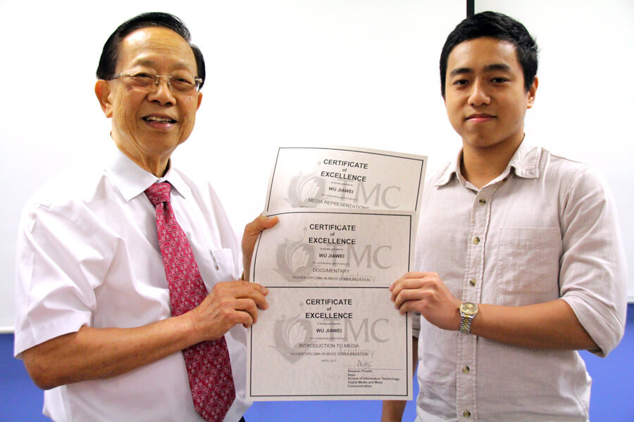 Wu Jiawei, Recipient of Outstanding Performance in Media Representations, Introduction to Media and Documentary | TMC Academy Higher Diploma in Mass Communication