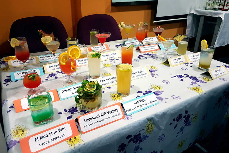 Entries of The Art Of Mixology Mocktail Competition