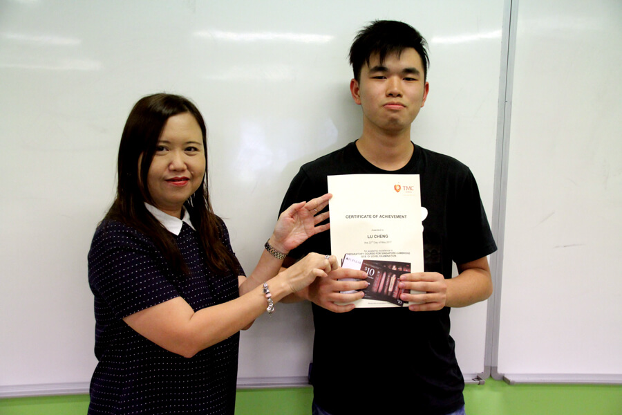 Lu Cheng - TMC College Preparatory Course for GCE 'O' Level Student Awards