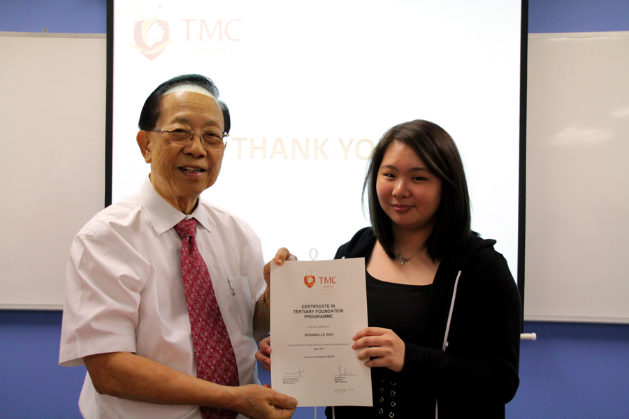 TMC Certificate in Tertiary Foundation Programme - Rosabelle Goh