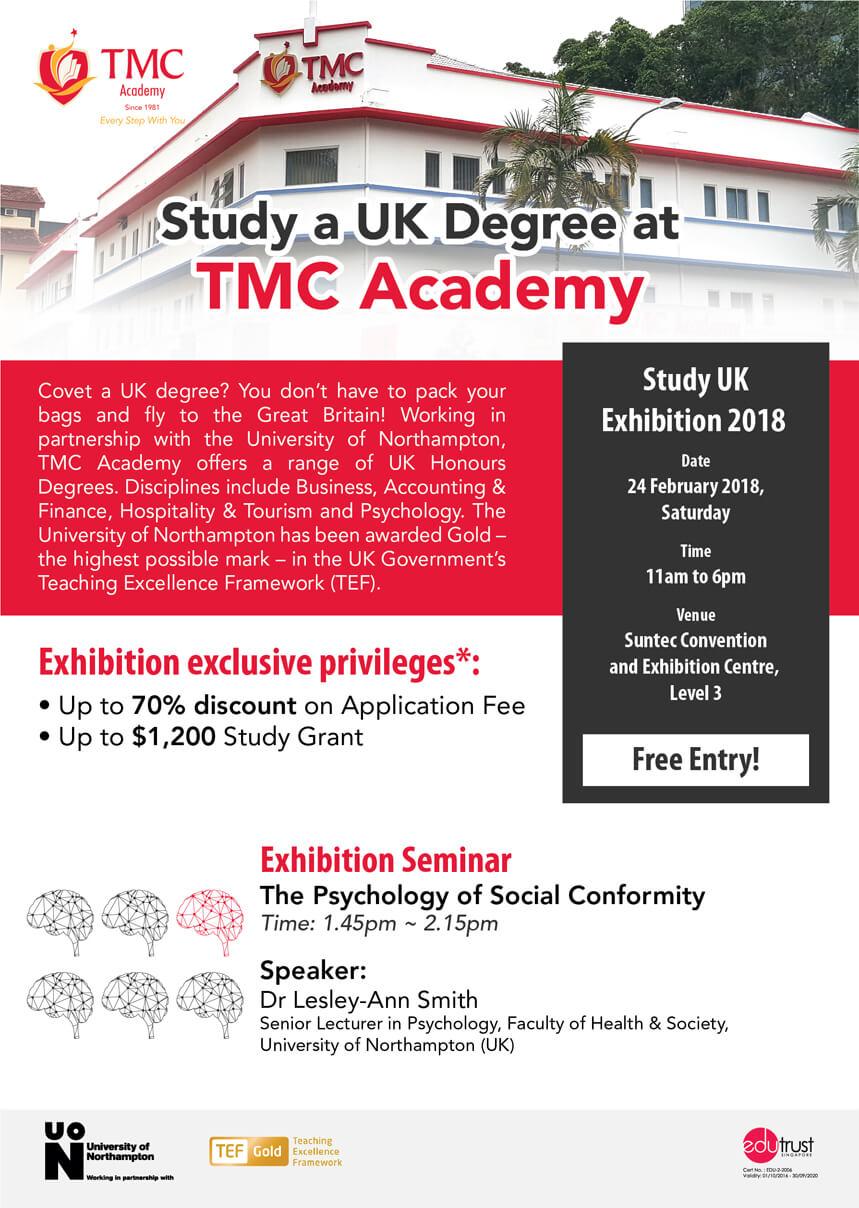 Study UK Degree in Singapore @ UKBC 2018