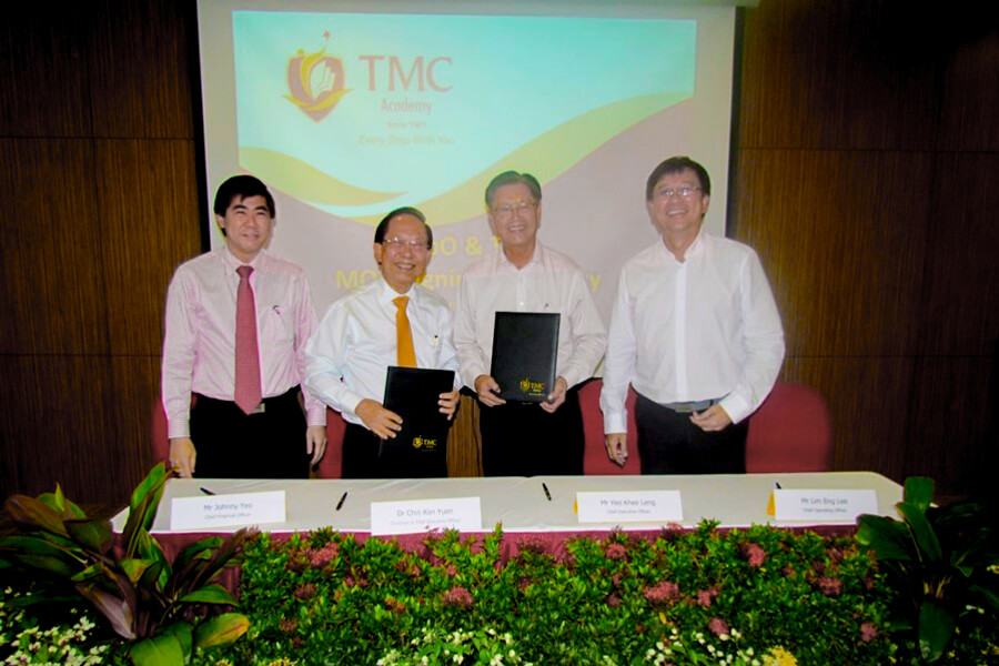 MOU signing between TMC Academy and nEbO club
