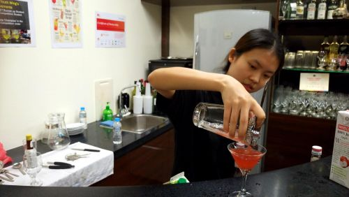 TMC Academy Open House April 2017 impressive cocktail by student