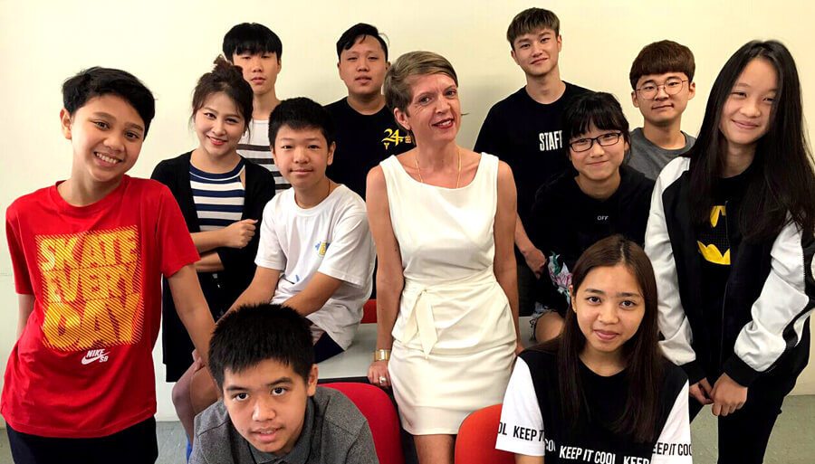 Sylvia and her students