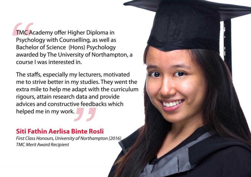 Siti Fathin Testimonial - TMC Academy Psychology Graduate