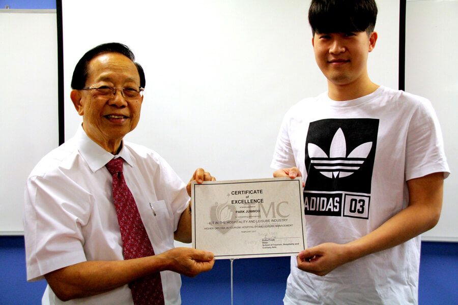 Certificate of Excellence in ICT In The Hospitality and Leisure Industry - Park Junwoo