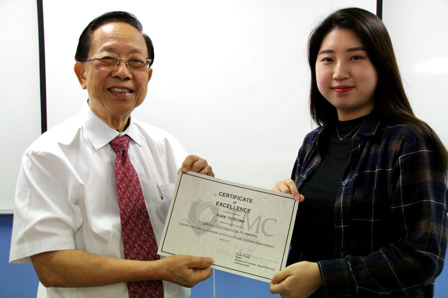 Certificate of Excellence in Tourism Destination Planning - Park Yuyeong