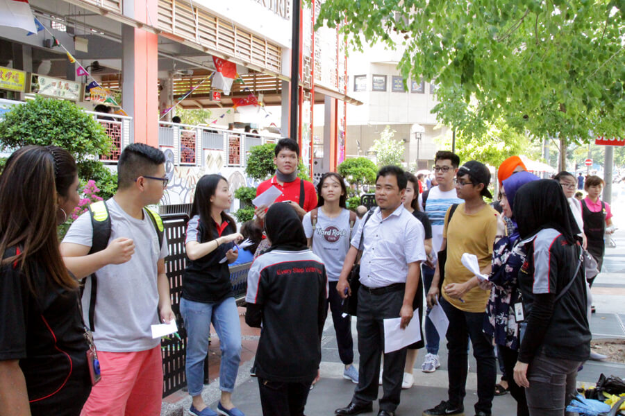 In Front of Hawker Centre | Campus Tour