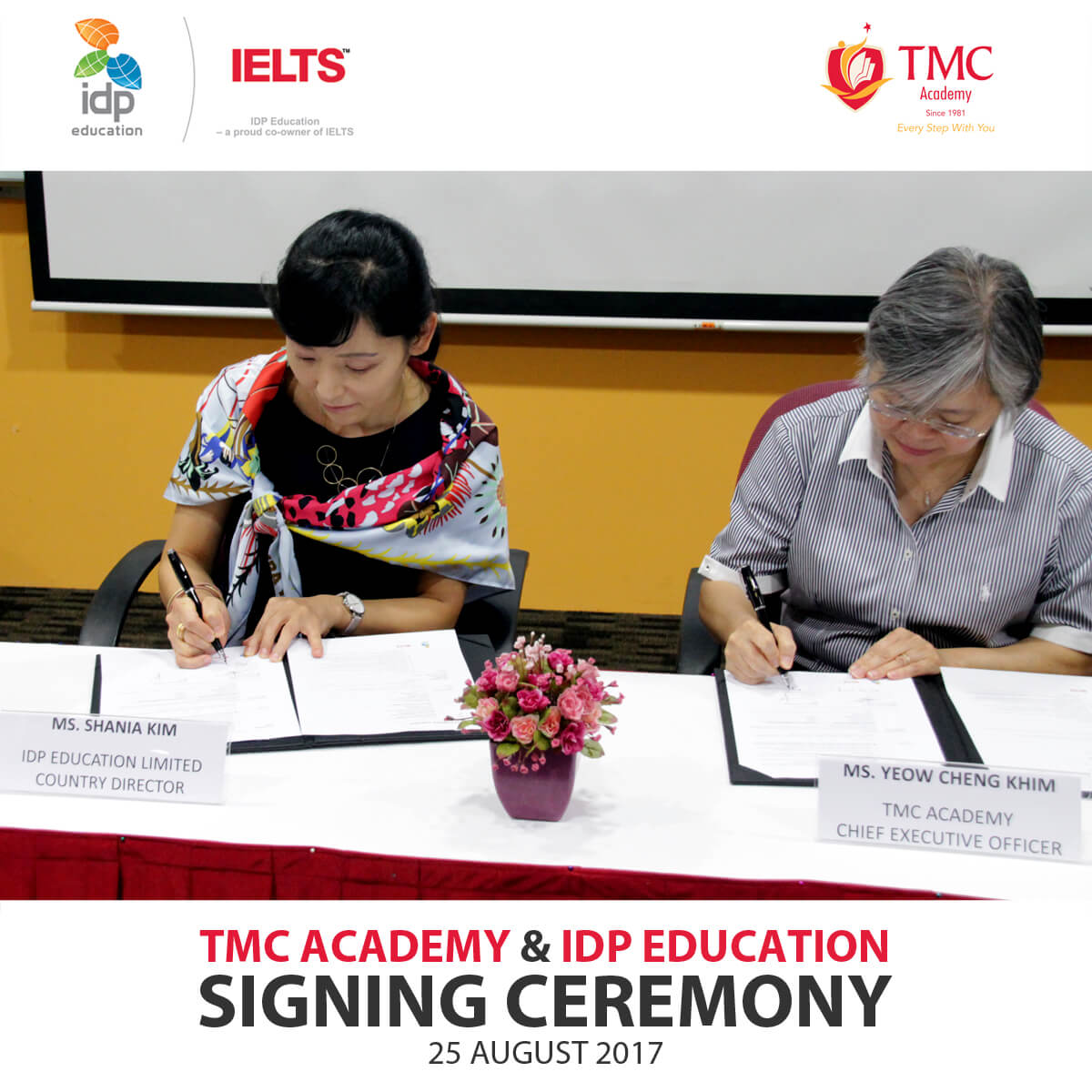 TMC & IDP Signing Ceremony Picture Signing the Collaboration
