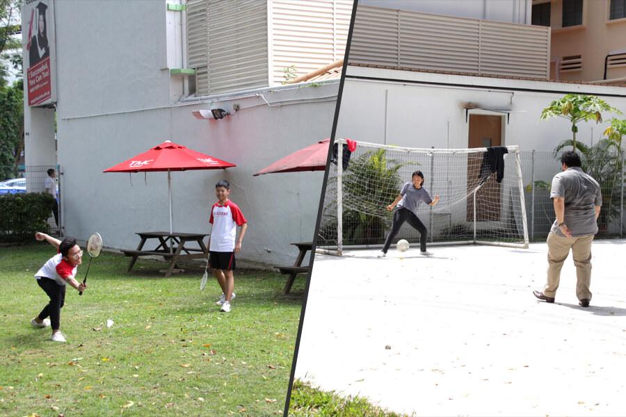 College Soccer & Badminton