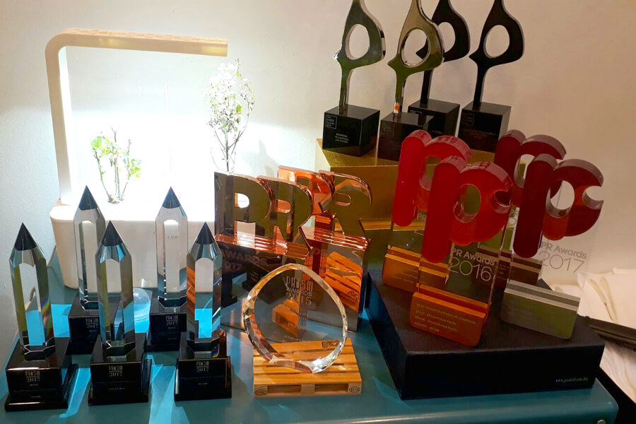 The multiple awards won by the company