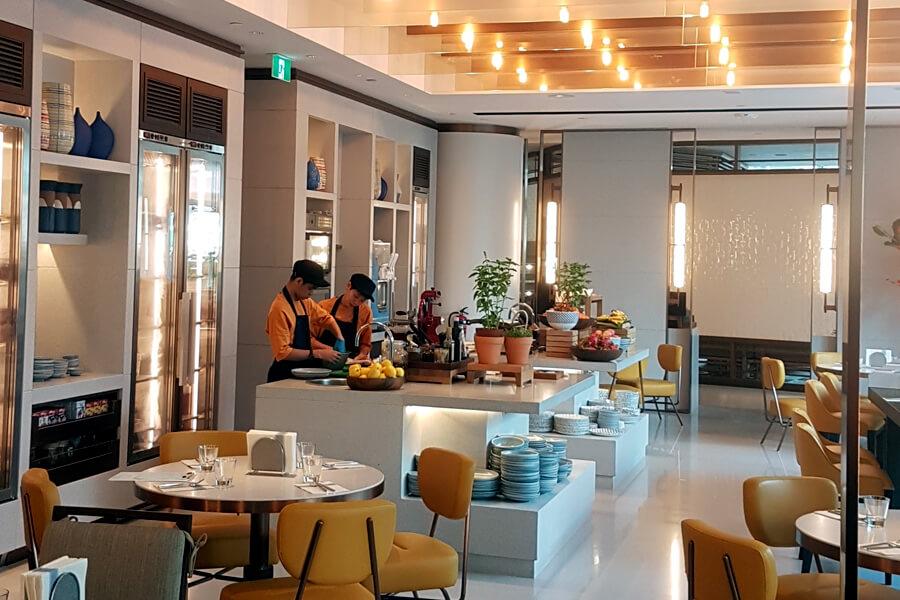 Inside Andaz Hotel