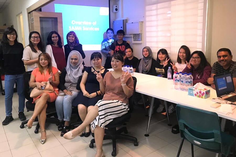 TMC Academy Psychology Students Visit SAMH